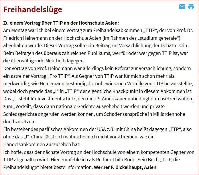 TTIP an FH