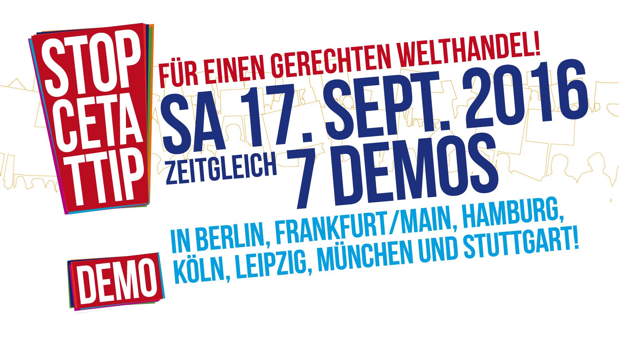 Einladung zur Demo am 17. September 2016